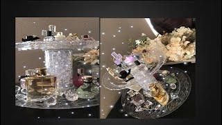 ORGANIZADOR de Perfumes hecho con productos de dollar . DOLLAR TREE PERFUME ORGANIZER.