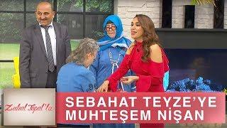 Zuhal Topal'la 195. Bölüm (HD) | Sebahat Teyze ve Cemil Amca Canlı Yayında Nişanlandı