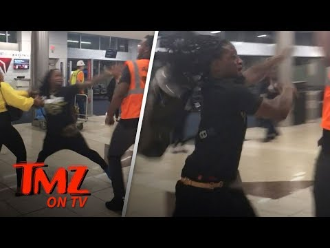 NFL Star In Wild Fight At Airport! | TMZ TV
