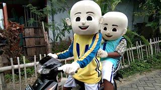 ADA BADUT UPIN & IPIN NGABUBURIT GOWES NAIK SEPEDA MOTOR - LILY & ON MY WAY ALAN WALKER INSTRUMENT
