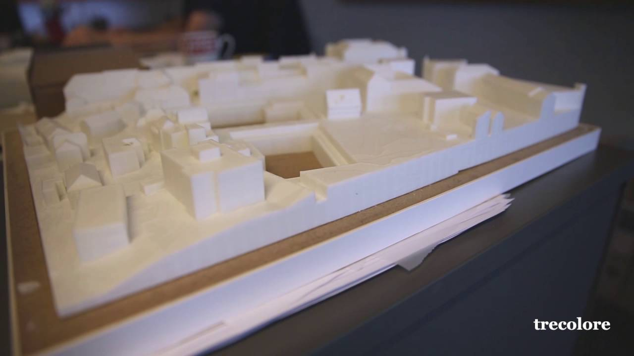 Architektur-Städtebau-Modell aus dem 3D-Drucker - YouTube