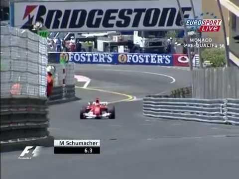 F1 Michael Schumacher Monaco lap