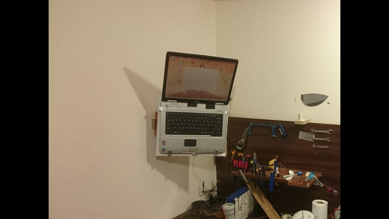 Making Laptop wall mount - YouTube