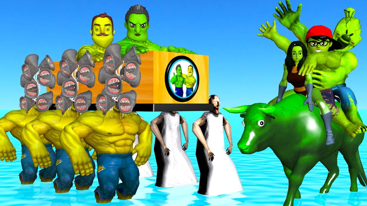 Scary Teacher 3D vs Siren Head Mods Hulk and Granny Troll Mr T and Cow Hulk Coffin Dance Compilation
