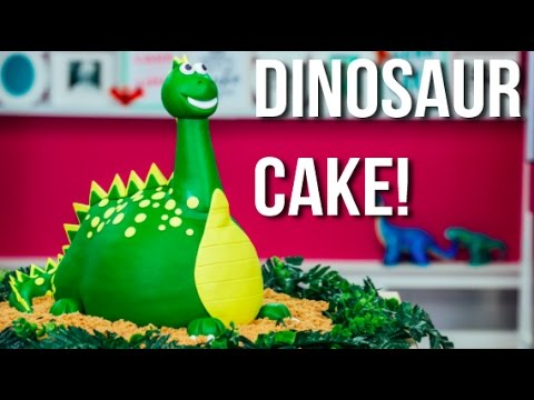 """""""How To Make A DINOSAUR CAKE! A Chocolate CAKEASAURUS REX For My Son's 3rd BIRTHDAY!"""""""