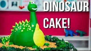 How To Make A DINOSAUR CAKE! A Chocolate CAKE...