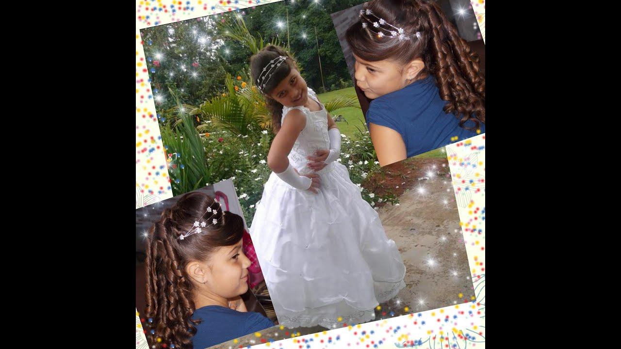 Favoritos penteado para criança noivinha - YouTube QZ85