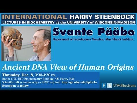 Svante Pääbo - International Harry Steenbock Lecture