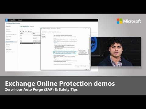 Exchange Online Protection - Zero-hour Auto Purge (ZAP), Safety Tips and more