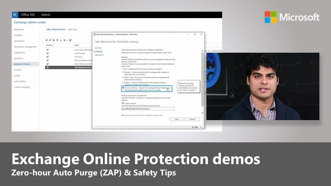 Exchange Online Protection updates - Zero-hour Auto Purge (ZAP), Safety Tips and more - YouTube