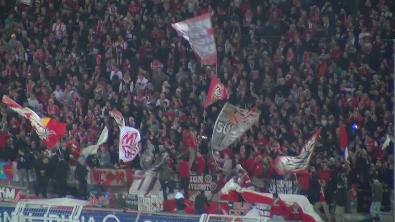 Borussia Dortmund vs FSV Mainz 05 2:1 - Choreo der Mainzer (BVB HD)