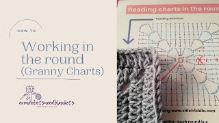 Working in the round - reading a granny square chart for beginners