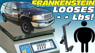 FRANKENSTEIN Gets Lighter... Reducing EXO's Truck Weight by Removing UNUSED Metal Towing Parts