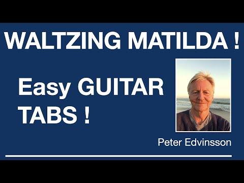 Free guitar tablature sheet music video | Waltzing Matilda - YouTube