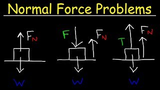 Normal Force Physics Proḃlems With Tension, Inclined Planes & Free Body Diagrams