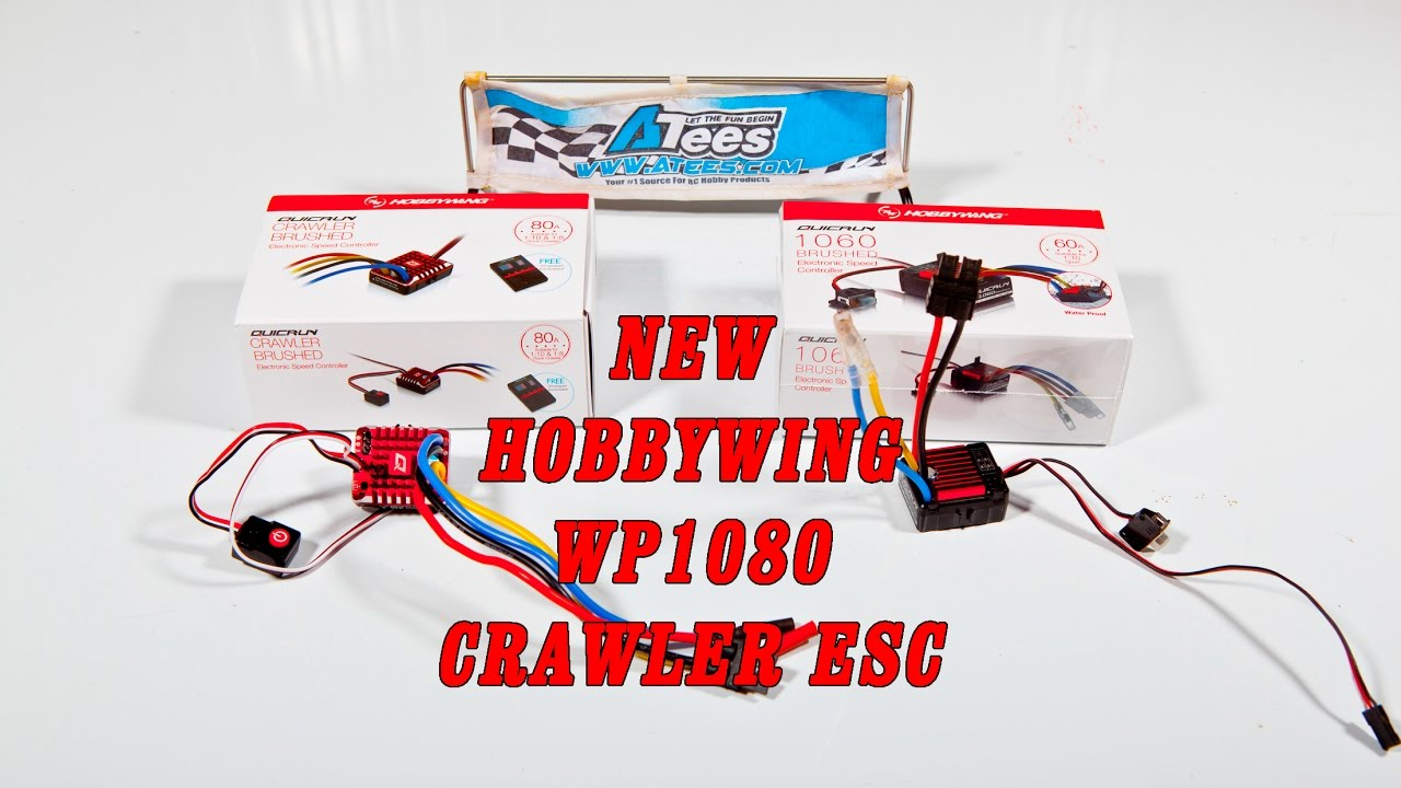 Repeat The new Hobbywing WP1080 crawler specific esc unboxing and
