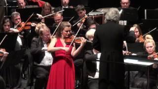 Natalia Lomeiko performing Tchaikovsky Violin Concerto, Moscow Phil...