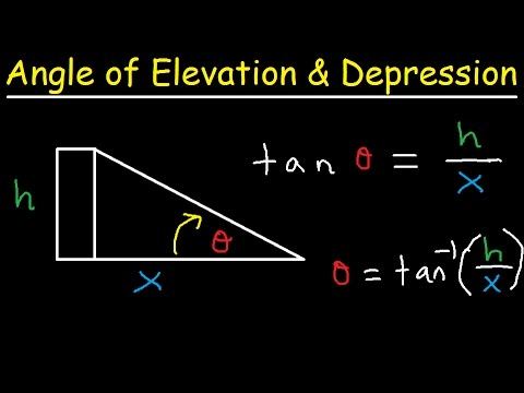 introduction to right triangle trig word problems