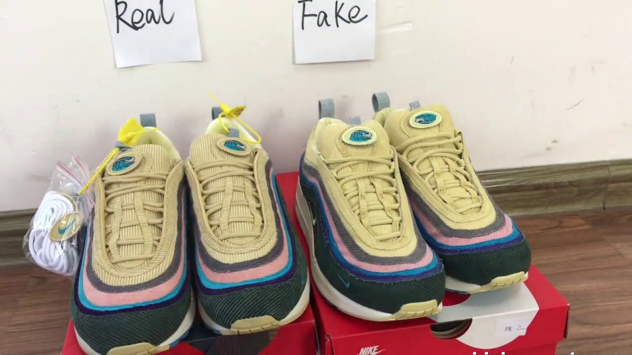 a8614649cf2 Comparation Real Vs Fake Nike Air Max 97 Sean Waterspoon REVIEW  :Yeezykickss.net