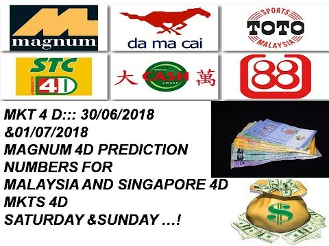 MKT 4D ::: 30/06/2018 &01/07/2018 MAGNUM 4D PREDICTION NUMBERS FOR