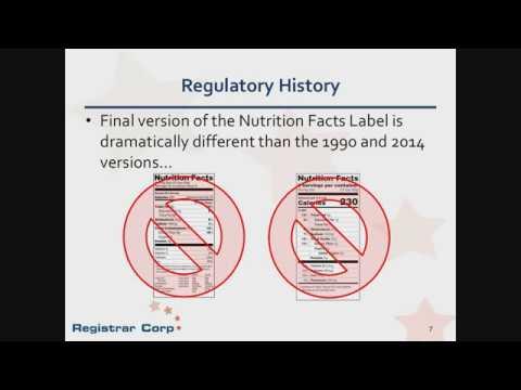 New U.S. FDA Food Labeling Rules