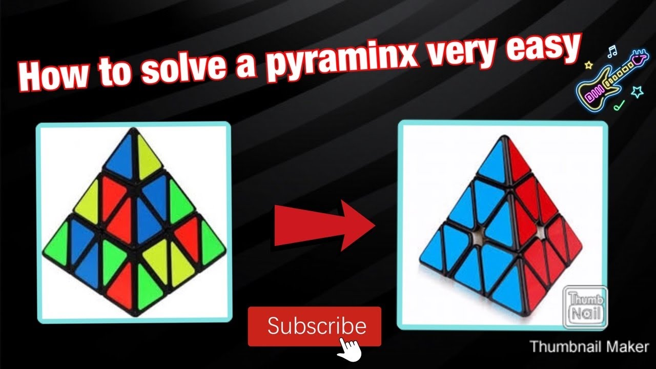How to solve a pyaraminx (layer by layer method)