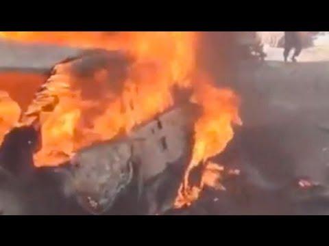 Syria bombing: dramatic aftermath of blast in Kafranbel, Idlib