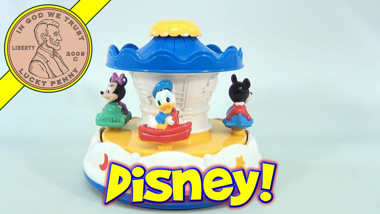 Disney Merry Go Round With Ceiling Light Show Baby Mickey