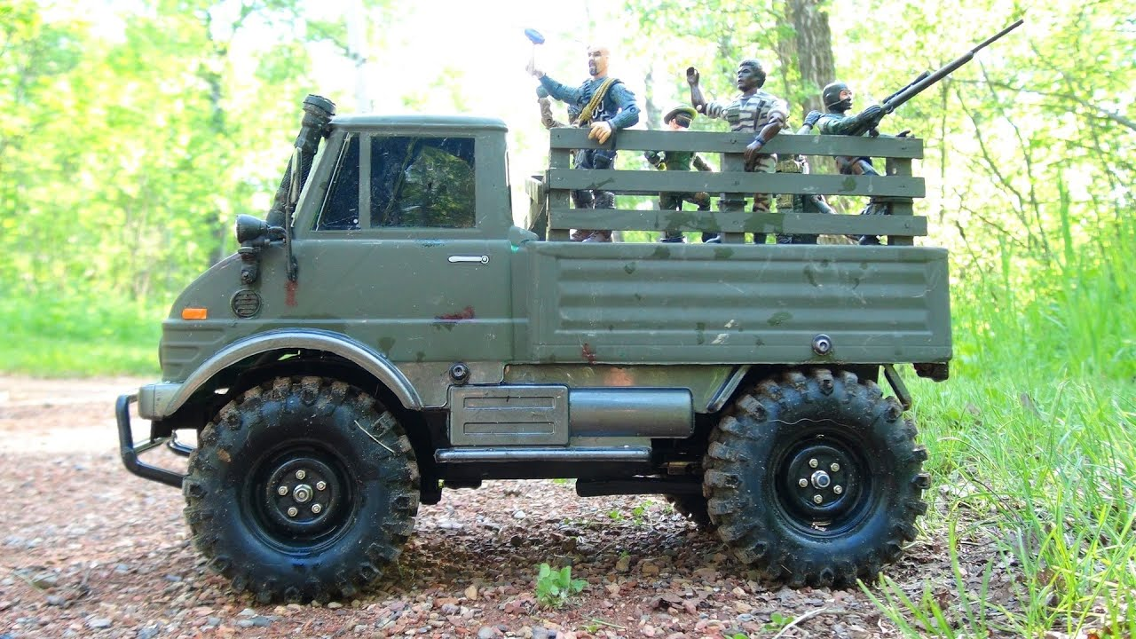 Mercedes Unimog For Sale >> RC ADVENTURES - Military Tamiya UNiMOG - Radio Controlled 4x4 - YouTube