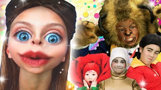 Beauty and the Beast Finger Family REMIX! | WigglePop