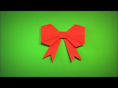 Origami Bow | How to Make a Paper Bow Decoration for a Gift DIY - Easy Origami Step by Step