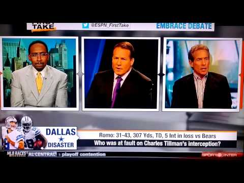 Skip Bayless takes the ultimate low blow on Eric Mangini