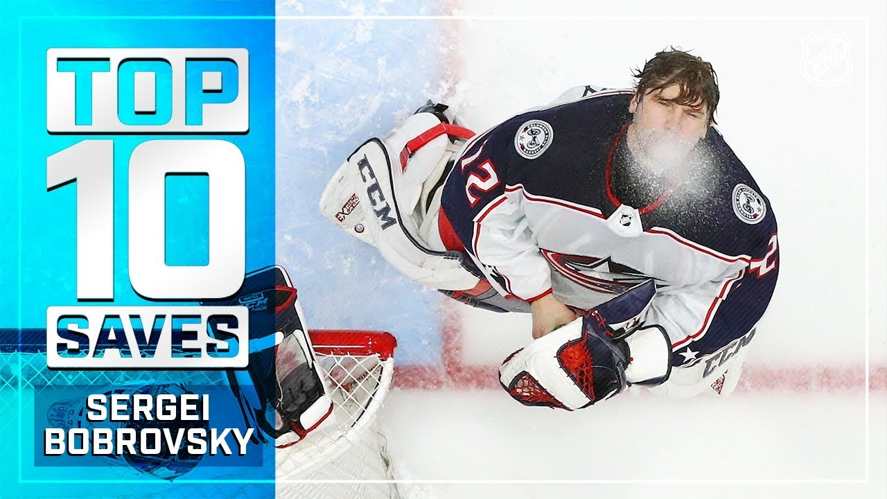 ace40d6ef7217 Top 10 Sergei Bobrovsky saves from 2018-19 - YouTube