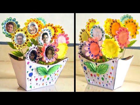Diy paper craft ideas || Paper flower photo garden