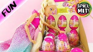 BARBIE deutsch 8 ÜBERRASCHUNGSEIER auspacken mit XXL Puppe Alessia | Spiel mit mir Kinderspielzeug