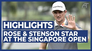 Rose & Stenson Star at SMBC Singapore Open | Round 1 Highlights 2020