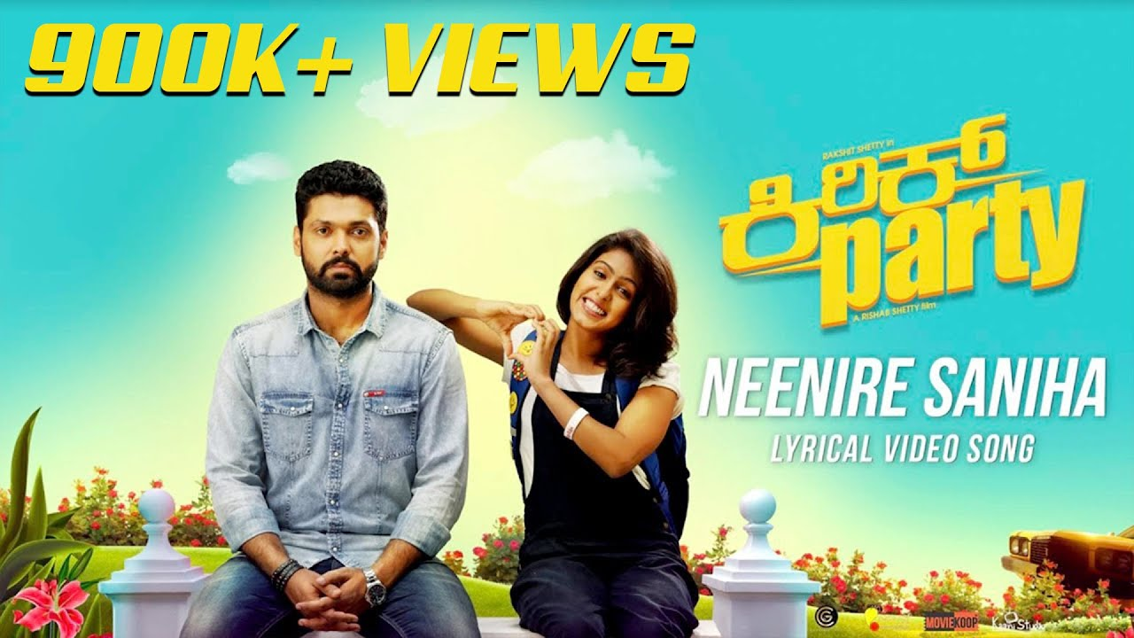Neenire Saniha - Lyric Video | Kirik Party | Rakshit Shetty | Shreya Ghoshal | B Ajaneesh Loknath