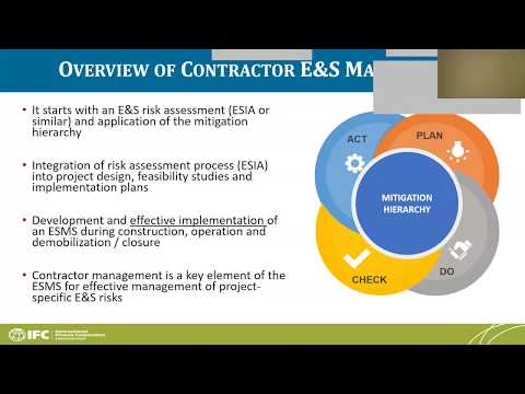 IFC Sustainability Webinar: IFC Good Practice Note on Managing Contractors' E&S Performance