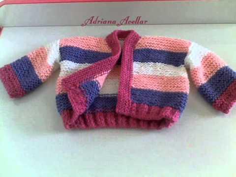 Suéter de trico para bebe 3 - YouTube be03997fe97