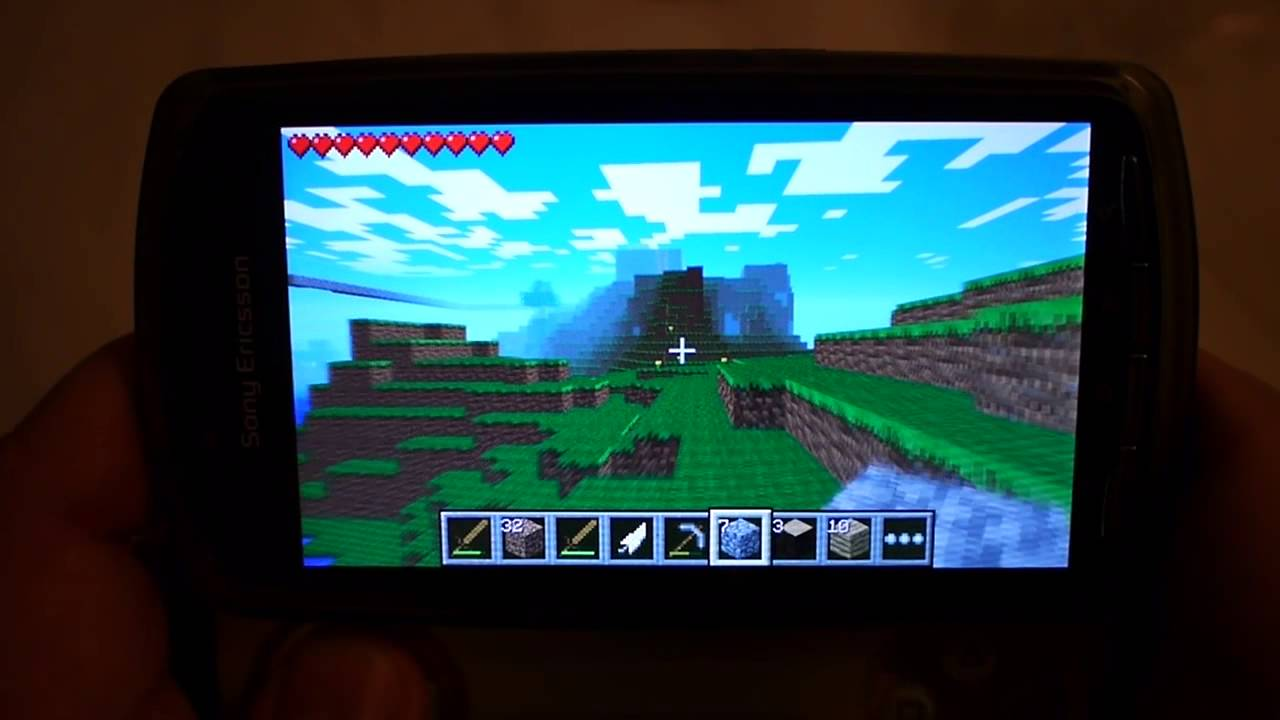 minecraft on sony xperia play android youtube