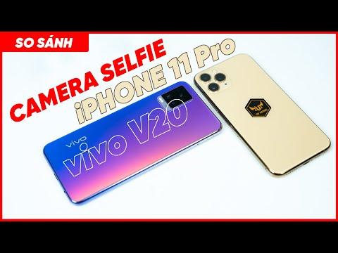 SO SÁNH CAMERA SELFIE VIVO V20 vs iPHONE 11 Pro, selfie ngon hơn chọn máy nào?