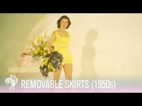 Removable Skirts at the Internation Fashion Fair (1950s) | Vintage Fashions from YouTube · Duration:  1 minutes 11 seconds