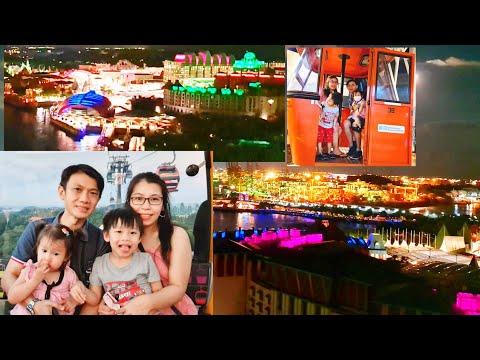Singapore Cable Car Ride By Night   Explore Singapore