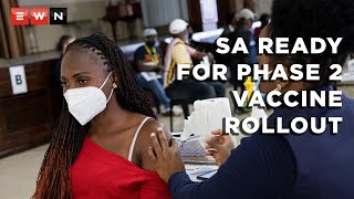The second phase of South Africa's vaccine rollout programme is still set to commence on 17 May 2021. Health Minister Zweli Mkhize reassured South Africans after he conducted an oversight visit at the Charlotte Maxeke Academic Hospital and other vaccine sites in Gauteng on 8 April 2021.  #COVID19 #COVIDVaccine #ZweliMkhize