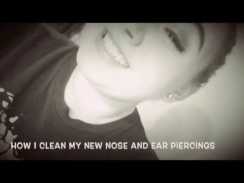 How I clean my nose and ear piercings