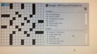 Solution  Google: 100 Years Of Crosswords - Google Doodle Games