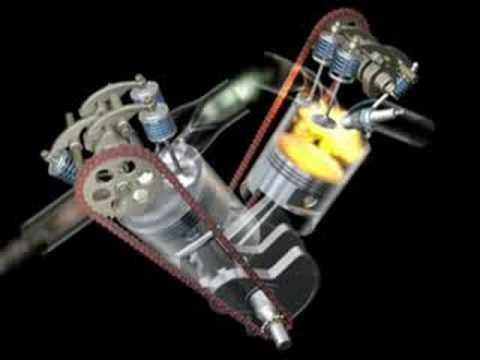 3fccd30bcbc Funcionamento motor Bicilíndrico em V a 52º - YouTube