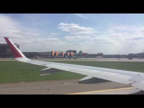 Aeroflot Russian Airlines A320-214 (Sharklets) landing at Moscow Sheremetyevo International Airport