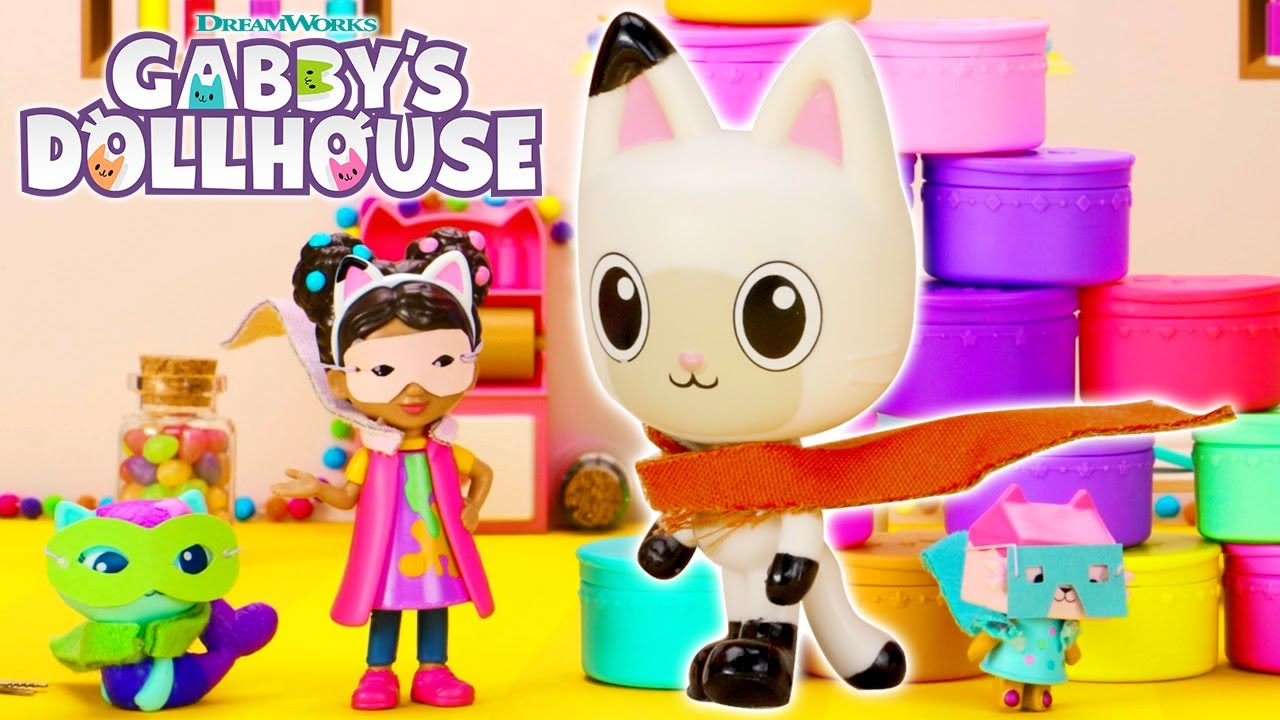 Download 🦸♂️ Super Pandy Paws DIY Mask + Cape!🦸♀   GABBY'S DOLLHOUSE TOY PLAY ADVENTURES
