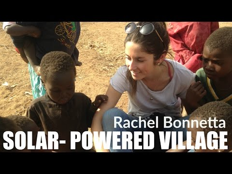 Rachel Bonnetta visits solar-powered village in Ghana | COMMUNITY RISE